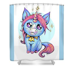 Cute Unicorn I Shower Curtain