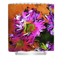 Daisy Rhapsody In Lavender And Pink Shower Curtain