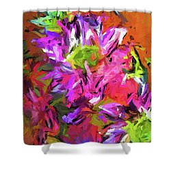Daisy Rhapsody In Purple And Pink Shower Curtain