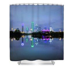 Dallas Cityscape Reflection Shower Curtain