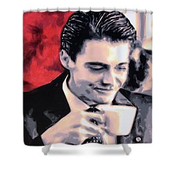 Shower Curtain Featuring The Painting Damn Fine Cup Of Coffee By Twin Peaks