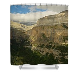 Shower Curtain featuring the photograph Dappled Light In The Ordesa Valley by Stephen Taylor