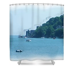 Dartmouth Castle Painting Shower Curtain