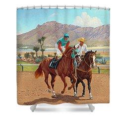 Dash For Cash Shower Curtain