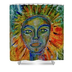 Daughter Of The Sun And Moon Shower Curtain
