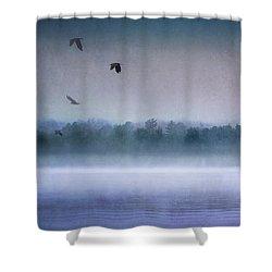 Dawn Of The Fog Shower Curtain