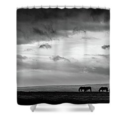 Days End At Hvammstangi Shower Curtain