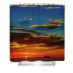 December 17 Sunset Shower Curtain