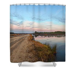 December Sunset At Whitesbog Nj Shower Curtain