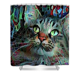 Deedee In Blue And Red Shower Curtain