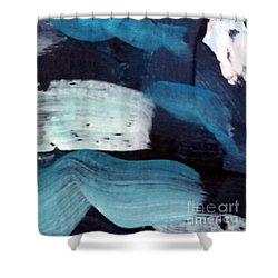 Shower Curtain featuring the painting Deep Blue #3 by Maria Langgle