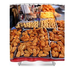 Deep Fried Chinese Bread Buns Shower Curtain
