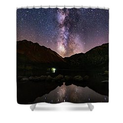 Deep Sky Fishing Shower Curtain