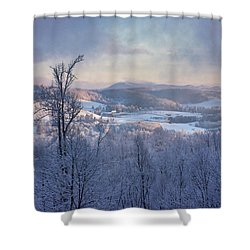 Deer Valley Winter View Shower Curtain