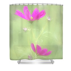 Delicate Painted Cosmos Shower Curtain