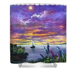 Delphinium Dreams Shower Curtain
