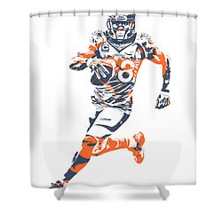 Demaryius Thomas Denver Broncos Pixel Art 40 Shower Curtain