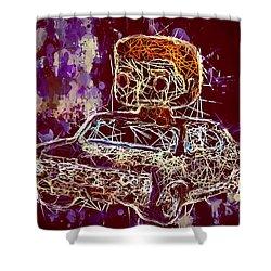 Dean Winchester Car Supernatural Pop  Shower Curtain