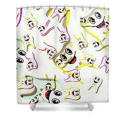Dental Clinic Caricatures Shower Curtain