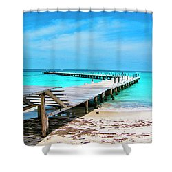 Departure Point Shower Curtain