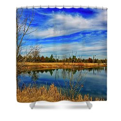 Shower Curtain featuring the photograph Depoorter Lake by Dan Miller