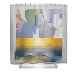 Desert Filter Box Shower Curtain