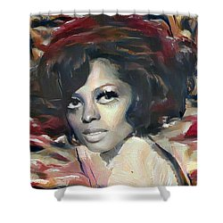 Diana Ross Shower Curtain