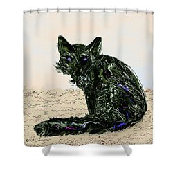 Digital Red Fox #1 Shower Curtain