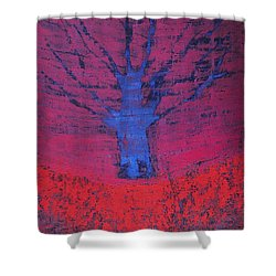 Disappearing Tree Original Painting Shower Curtain
