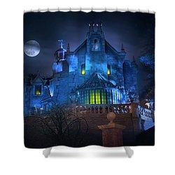 Disney Worlds Haunted Mansion Shower Curtain