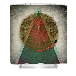 Shower Curtain featuring the digital art Divided by Edmund Nagele