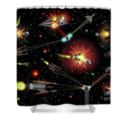 Dog Fights Shower Curtain