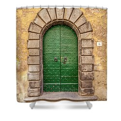 Door Six Of Cortona Shower Curtain