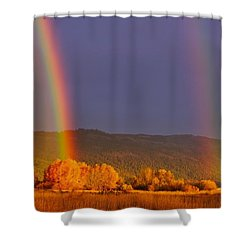 Double Gold Shower Curtain