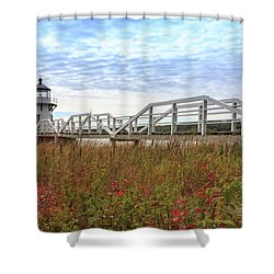 Doubling Point Lighthouse In Maine Shower Curtain