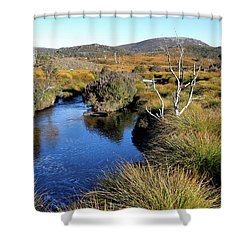 Shower Curtain featuring the photograph Dove River by Nicholas Blackwell