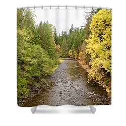 Down The Molalla Shower Curtain