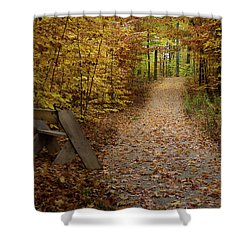 Down The Trail Shower Curtain