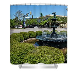 Downtown Aiken Sc Fountain Shower Curtain