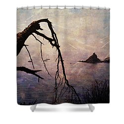 Shower Curtain featuring the photograph Drama At Sunset by Randi Grace Nilsberg