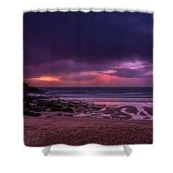 Dramatic Sky At Porthmeor Shower Curtain