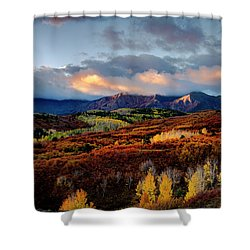 Dramatic Sunrise In The San Juan Mountains Of Colorado Shower Curtain