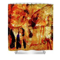 Shower Curtain featuring the painting Dreamcatcher by Valerie Anne Kelly