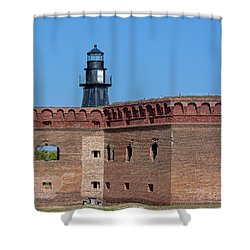Shower Curtain featuring the photograph Dry Tortugas National Park, Fort Jefferson by Kay Brewer