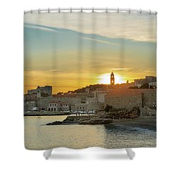 Dubrovnik Old Town At Sunset Shower Curtain