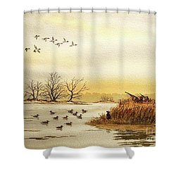 Duck Hunting For Pintails Shower Curtain