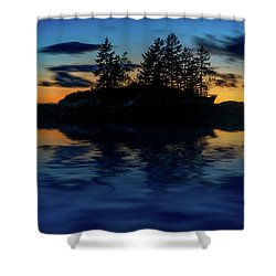 Shower Curtain featuring the photograph Dusk At Lookout Point by Rick Berk
