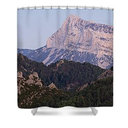 Shower Curtain featuring the photograph Dusk At Pena Montanesa by Stephen Taylor