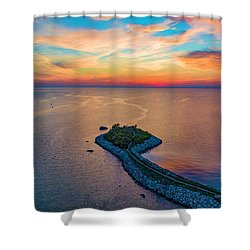 Dusk At The Knob Shower Curtain
