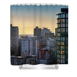 Dusky Hues Over The Pacific Shower Curtain